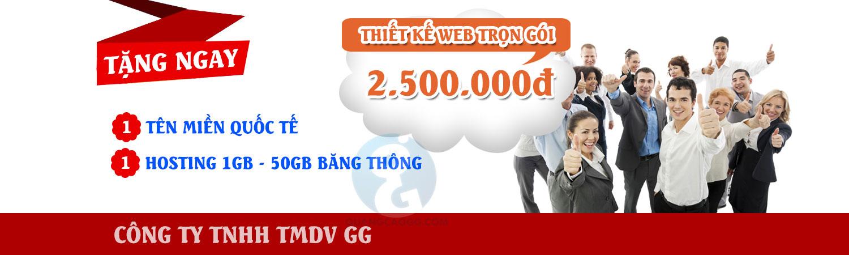 Thiết kế web trọn gói 2.500.000đ